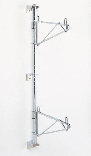 Metro® 54PDFK3 - Super Erecta® Wall Mounts, Posts & Brackets, post for 3 tier, includes two end brackets (BES) with each double-footed posts & two intermediate bracket (BCS), 54