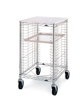 Metro® RE1P - Portable Wire Prep Rack, mobile, end load, 21-3/4