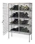 Metro® 74FPC - Basic Wine Shelving Post, with foot plate, 74-3/4