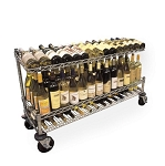 Metro® WC1436C - Mobile Wine Cart 14x36