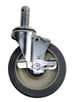 Olympic J5FBA-4 - Non marking, Swivel/Brake Caster Kit (ONE KIT = 4 CASTERS)