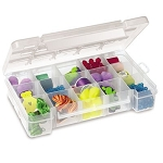 Storage Case, 15 Compartments 8-5/8 x 5-1/8 x 1-5/8, Clear (05705).  This item sold in carton quantities of 12.