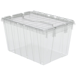 Attached Lid Container 12 gal, 21-1/2 x 15 x 12-1/2, Clear (39120SCLAR).  This item sold in carton quantities of 6.