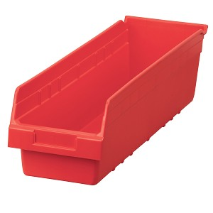 "ShelfMax Shelf Bin 23-5/8"" x 6-5/8 x 6, Red (30094RED).  This item sold in carton quantities of 10."