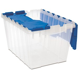 KeepBox 12 Gal, 21-1/2 x 15 x 12-1/2, Clear/Blue (66486CLDBL).  This item sold in carton quantities of 6.