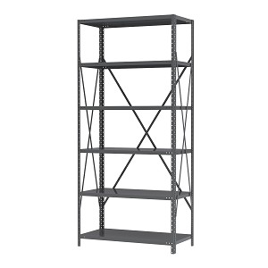 "Item DISCONTINUED by Manufacturer.  Steel Shelving 18""D, 6 Shelves No Bins, Gray (AS187936).  This item sold in carton quantities of 1."