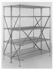 "Metro® SA45BEC - Super Erecta® Seismic End Kit, for 21"" and 24"" wide seismic back-to-back shelving unit, includes: 2 sway braces which form an ""X"" on one end of connected unit & all mounting hardware"