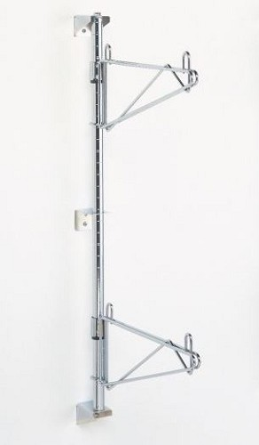 Chrome Post shown with mount brackets and shelf supports sold separately