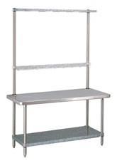 Shown with optional Cantilever Shelf and Utility Rack