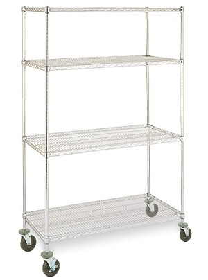 "18x36x69""H unit mobile 4 Tier Olympic J183663-4M"